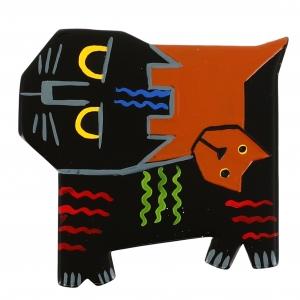 chat picasso noir roux