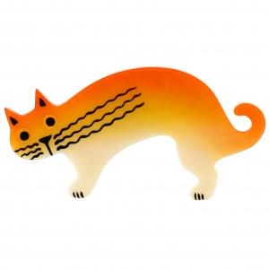 chat raspoutine jaune et paille