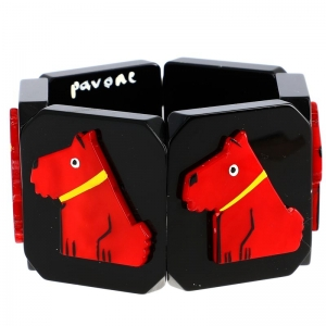 chien ric rouge noir