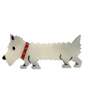 chien titane blanc