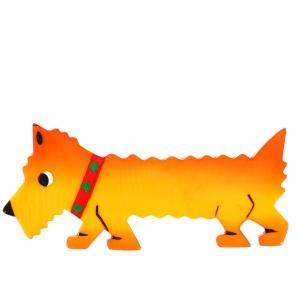 chien titane jaune