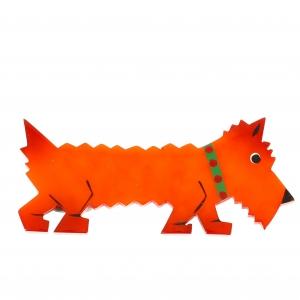 chien titane orange