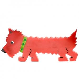 chien titane rose