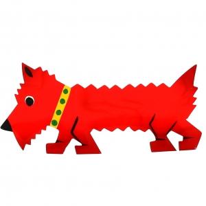 chien titane rouge