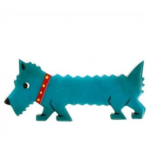 chien titane turquoise