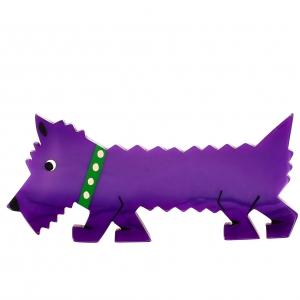 chien titane violet
