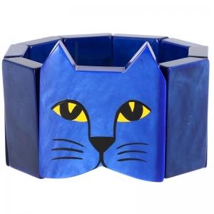 tete chat bleu