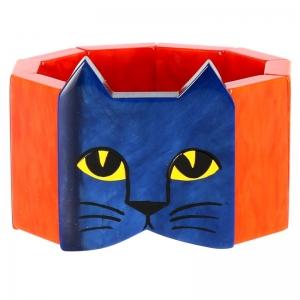 tete chat bleu orange