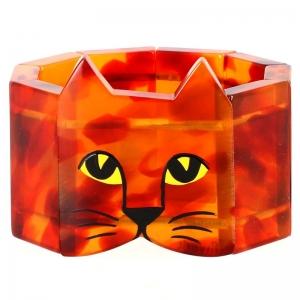 tete chat ecaille roux