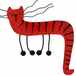Chat Dodelino rouge brique