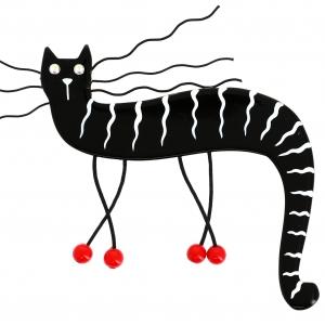 Chat zebulon noir