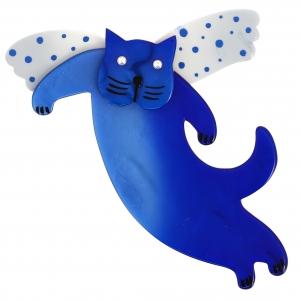 chat angelo bleu et blanc