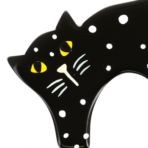 chat herisse noir pois 2