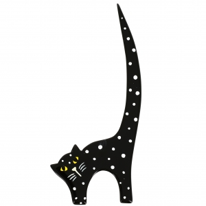 chat herisse noir pois scaled