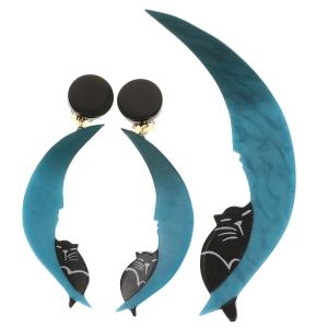 Ensemble Chat Clair de Lune turquoise