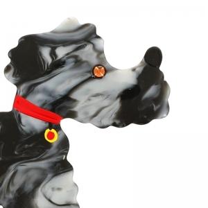 caniche gris flamme portrait