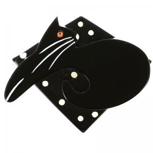 chat Coussin noir pois