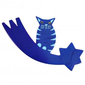 chat comete bleu 3