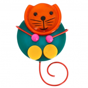 chat pao emeraude et orange