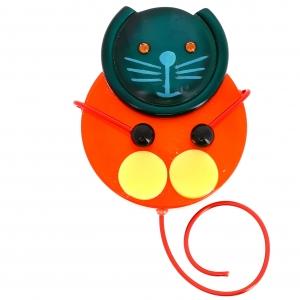 chat pao orange et emeraude