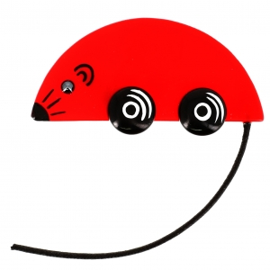 souris bolide rouge