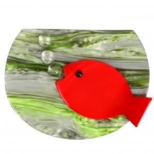 Aquarium rouge et vert nacre