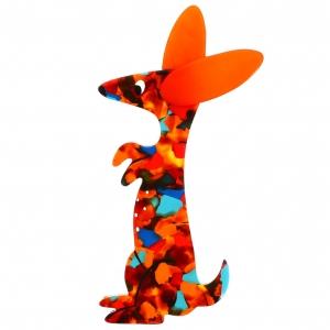 Bunny confetis et orange