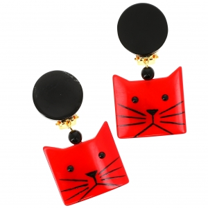 Chat Cafetiere rouge