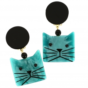 Chat Cafetiere turquoise