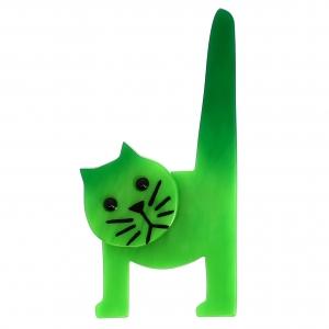 Chat Chaise vert vif