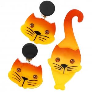 Chat Tintin jaune et BO scaled