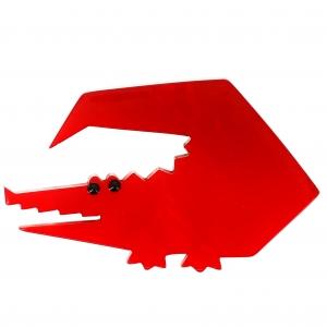 Crocodile trapeze rouge