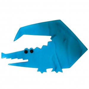 Crocodile trapeze turquoise bleu