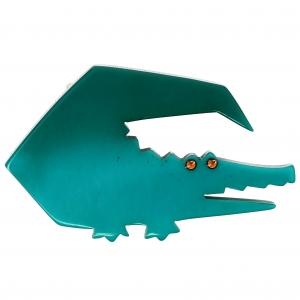 Crocodile trapeze turquoise vert
