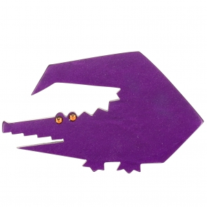Crocodile trapeze violet