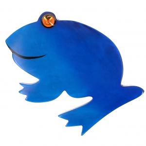 Grenouille ronde bleue