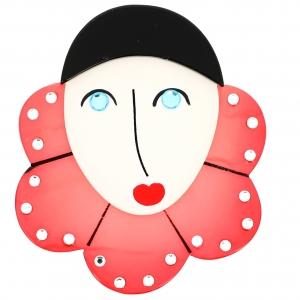 Pierrot Collerette rose