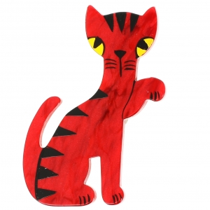 chat calinou rouge carmin