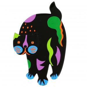 chat titus noir deco multicol