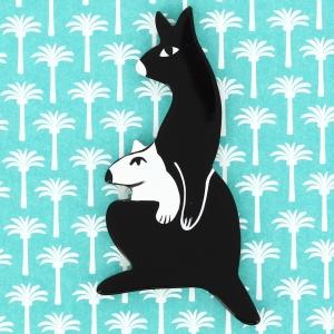 Kangourou Baby noir et blanc