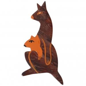 Kangourou baby brun pommele