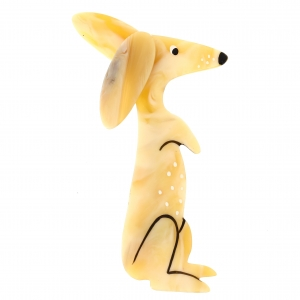 bunny ivoire moire