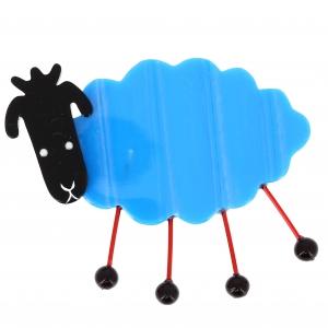mouton profil bleu et fil argent