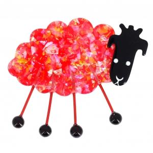 mouton profil rouge brillant