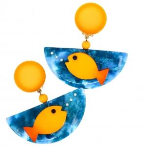 poisson ocean jaune et turquoise