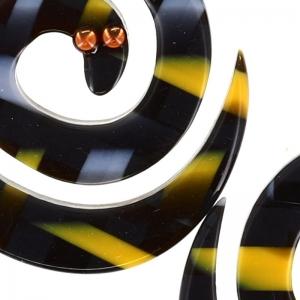 BO serpent enroule jaune et gris1 800x800 1