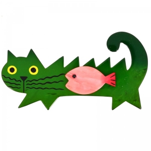 chat Poisson malachite et rose