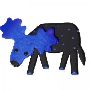 elan bleu et noir pois