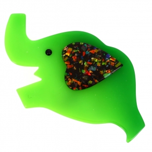 elephant coeur vert vert brillant 1