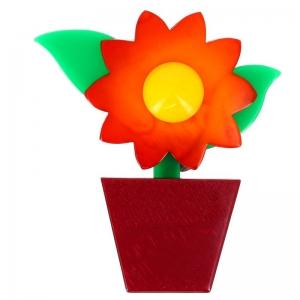fleur en pot orange et carmin